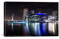 Media City Manchester Canal, Canvas Print