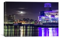 Media City Bridge Manchester, Canvas Print