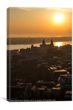Sunset over Liverpool, Canvas Print