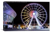 Liverpool wheel and echo arena, Canvas Print