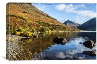 Scafell Pike from Wastwater, Canvas Print