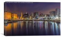 Canning Dock long exposure, Canvas Print