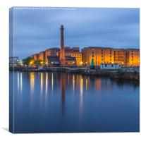 Canning Dock and Pump House, Canvas Print