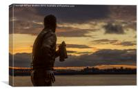 Captain Walker at the Liverpool Pier Head, Canvas Print