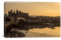 Conwy Castle and harbour, Canvas Print