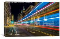 Water Street Bus Lights, Canvas Print
