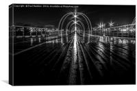 Southport Pier in the night, Canvas Print