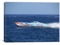 Offshore Powerboat Racing, Canvas Print