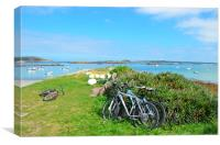 Cycling In The Isles Of Scilly, Canvas Print