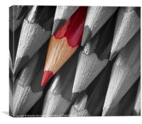 Red Pencil, Canvas Print