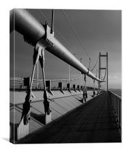 Humber Bridge Sunset In Black & White, Canvas Print