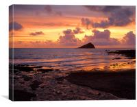 Wembury Bay Sunset, Canvas Print