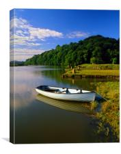 Boat Moored at Cotehelle Quay, Canvas Print