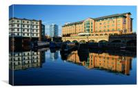 Victoria Quays & Hilton Hotel,Sheffield, Canvas Print