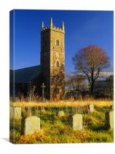 St Michael & All Angels Church, Princetown, Canvas Print