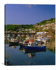 West Looe,River & Boats, Canvas Print