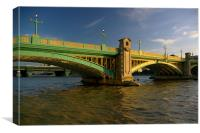 Southwark Bridge & River Thames,London, Canvas Print