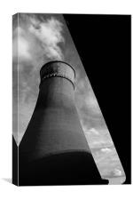 Tinsley Cooling Tower & M1, Canvas Print