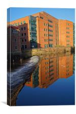 River Don From Ladys Bridge, Sheffield, Canvas Print