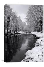 River Don Reflections, Canvas Print
