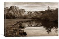 Headstone Viaduct, Monsal Dale,Peak District, Canvas Print