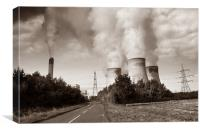 Drax Power Station, Canvas Print