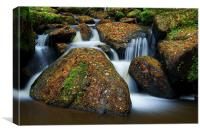 Wyming Brook Falls, Canvas Print