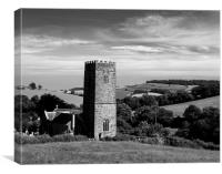 St Nectans Church, Ashcombe, Canvas Print