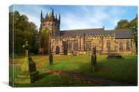 St Mary Magdelene Church, Whiston, Canvas Print