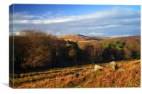 Longshaw View across Burbage Valley, Canvas Print