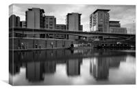 Victoria Quays & Modern Buildings, Canvas Print