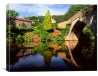 Froggatt Bridge and River Derwent, Canvas Print
