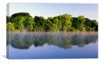 Misty Morning on Chard Reservoir, Canvas Print