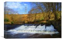Old Park Weir, River Don, Sheffield, Canvas Print