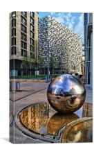 Millennium Square, Sheffield City Centre, Canvas Print