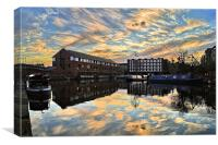 Victoria Quays Sunset, Canvas Print