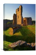 Ogmore Castle, Canvas Print
