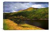 Ladybower Reservoir and Whinstone Lea Tor , Canvas Print