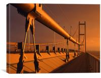 Humber Bridge at Sunset, Canvas Print