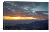 Hope Valley Sunset , Canvas Print