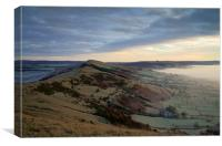 Great Ridge Morning Mist , Canvas Print