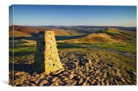 View from Mam Tor Summit , Canvas Print