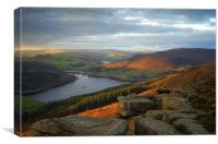 Ladybower View on Bamford Edge , Canvas Print