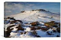 Carl Wark and Higger Tor in Winter , Canvas Print