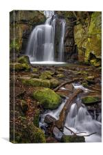 Lumsdale Falls and Bentley Brook , Canvas Print