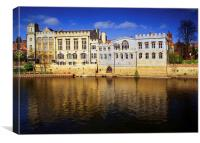 York Guildhall & River Ouse, Canvas Print