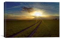 Penny Hill Sunset, Canvas Print