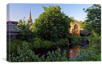 Chapel on the Bridge and Rotherham Minster , Canvas Print
