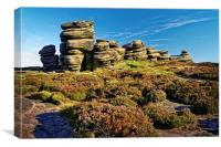 Wheel Stones, Derwent Edge, Peak District, Canvas Print