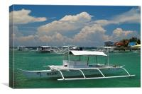 Mactan Pump boats , Canvas Print